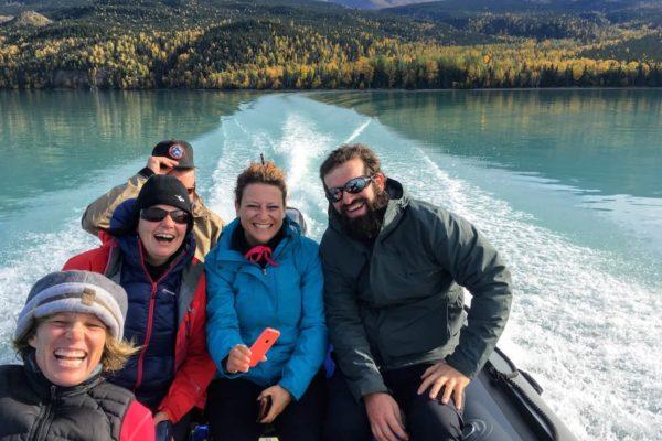 Scenic Boating and Hiking Tour Skilak Lake Kenai National Wildlife Refuge